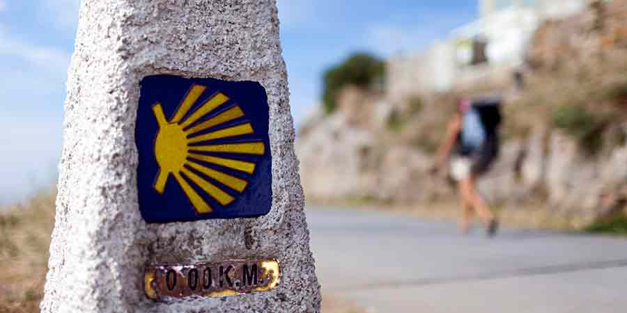 pilgrim Camino Fisterra